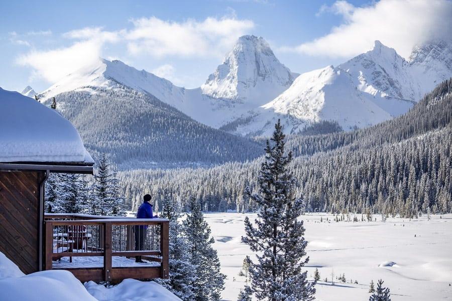 Mount Engadine Lodge in winter