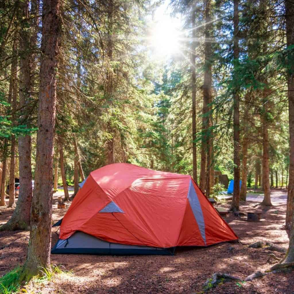 Camping in Banff National Park