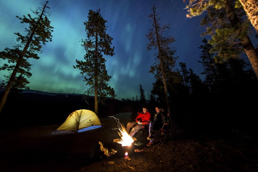 Camping and Northern Lights