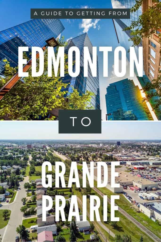 Edmonton to Grande Prairie Pin