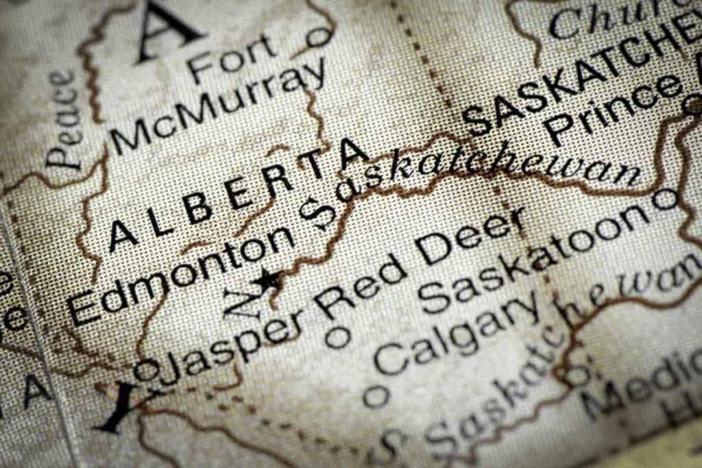 Edmonton to Red Deer Map