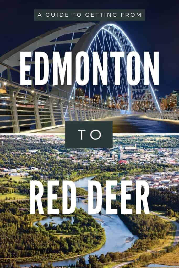 Edmonton to Red Deer Pin