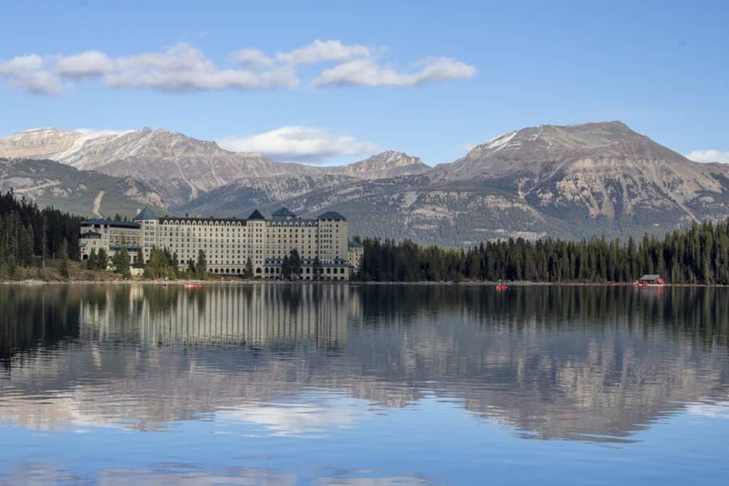 The iconic Fairmont Chateau Lake Louise