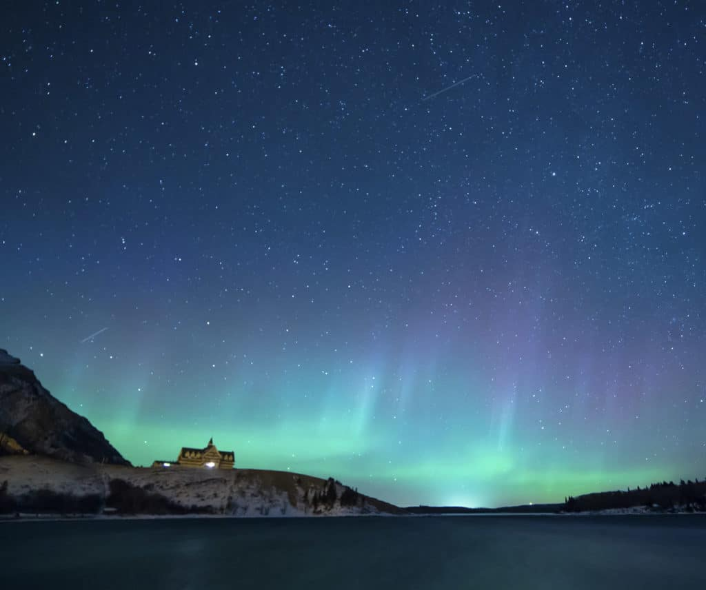 Northern Lights in Waterton Lakes National Park