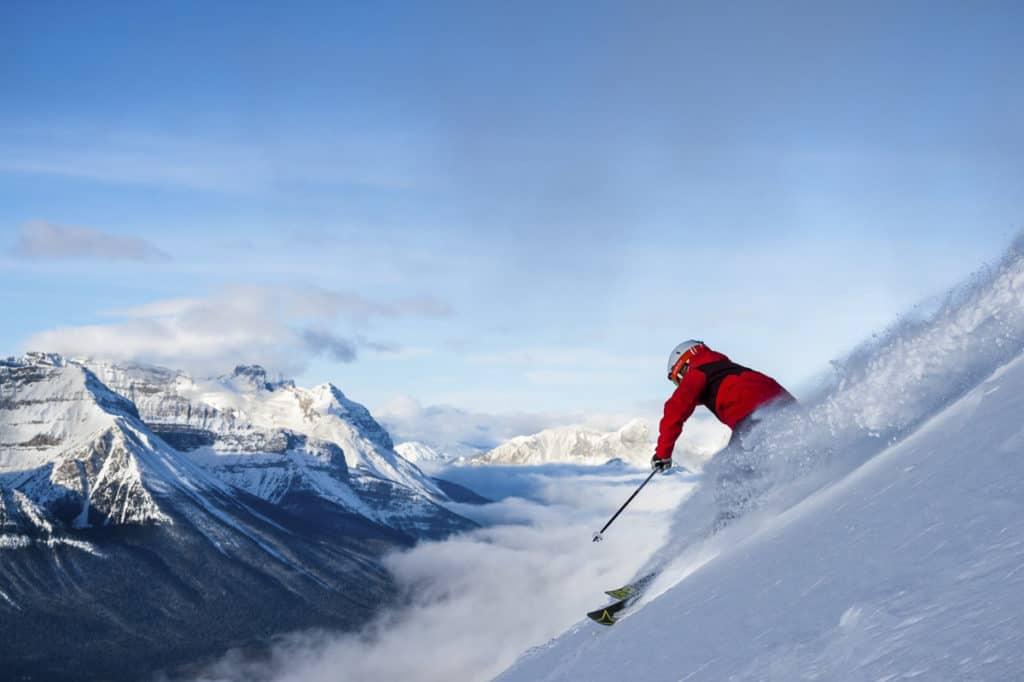 Alpine skiing at Lake Louise
