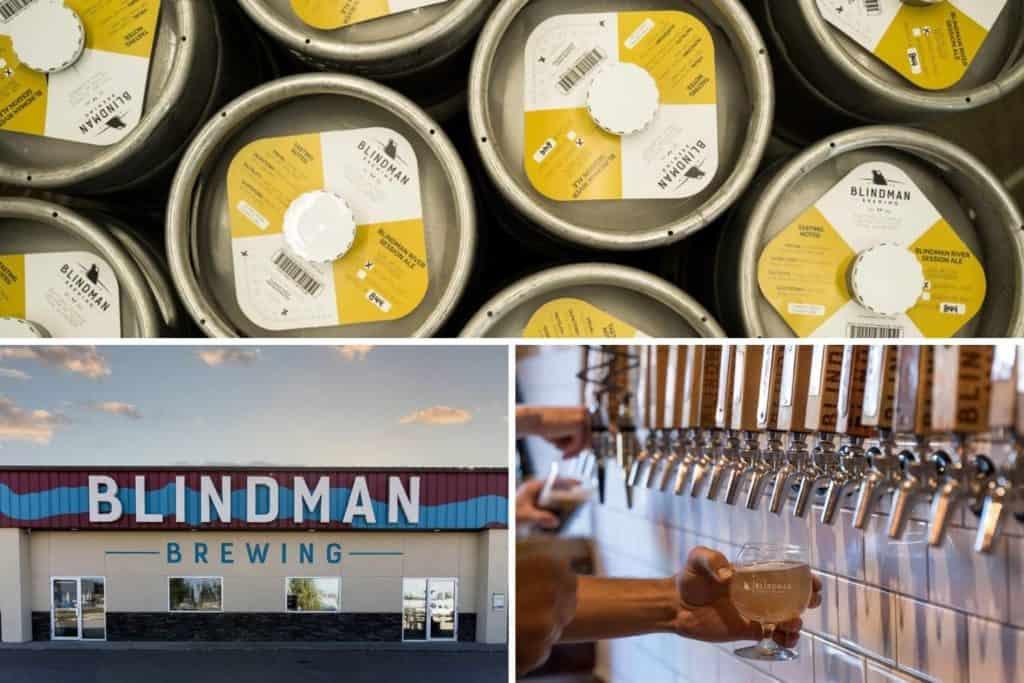Craft beer at Blindman Brewing in Lacombe, Alberta