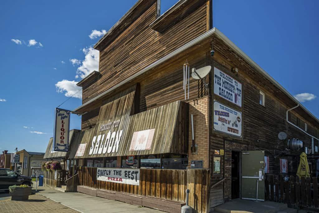 The Monkey Top Saloon in Lacombe, Alberta